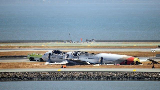 Asiana Airlines plane crash at San Francisco International airport