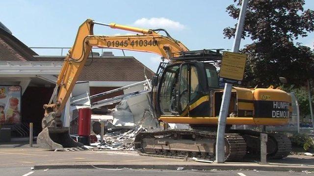 Newmarket Tesco damaged in raid