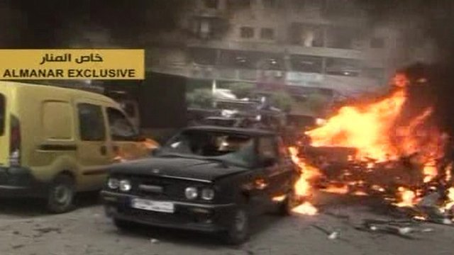 Scene of explosion in Beirut