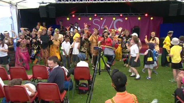 A choir at the Llangollen International Musical Eisteddfod