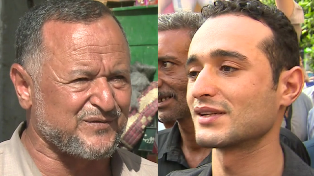 Ahmed Douma and his father support different sides