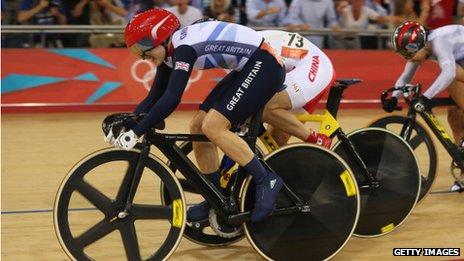 Victoria Pendleton at the Olympics