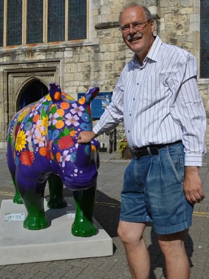 Tourist with Rhino