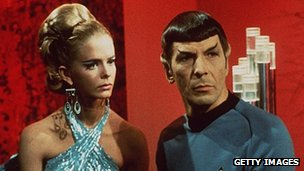 Mr Spock and alien woman