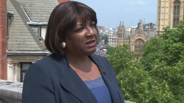 Shadow health minister Diane Abbott