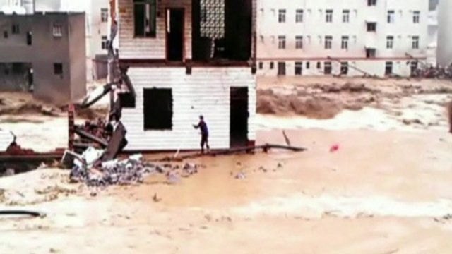 Lucky escape for man whose house is swept away