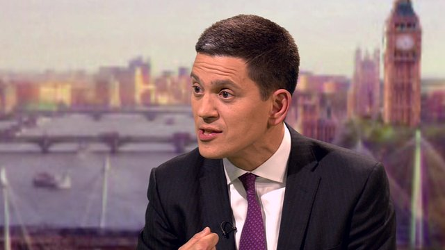 David Miliband on The Andrew Marr Show