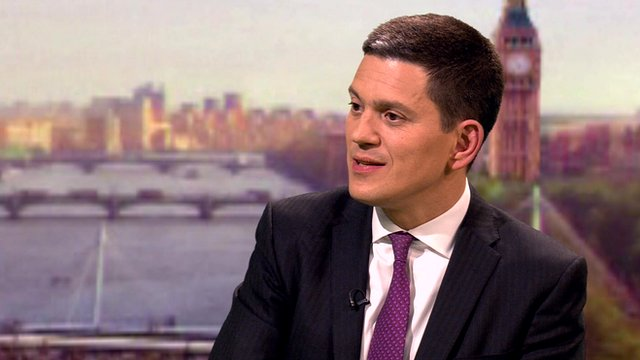 David Miliband appeared on The Andrew Marr Show