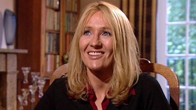JK Rowling speaking in 2001