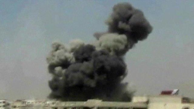Smoke from a blast