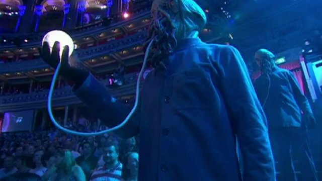 One of the Doctor Who monsters at the BBC Proms at the Royal Albert Hall