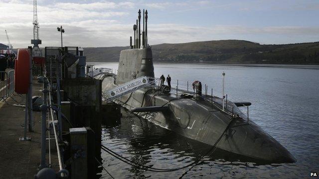 HMS Ambush in Faslane naval base