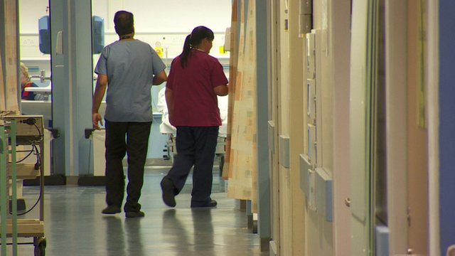 Inside a hospital ward
