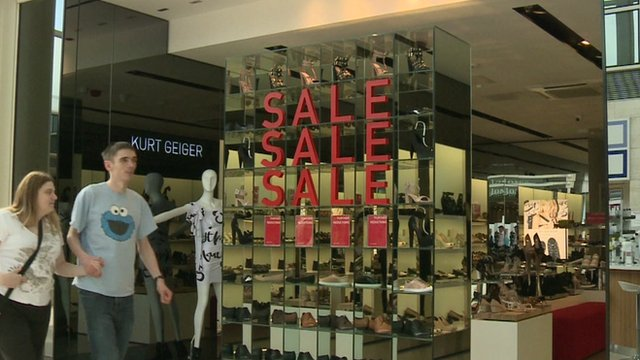 Shop front promoting Sales