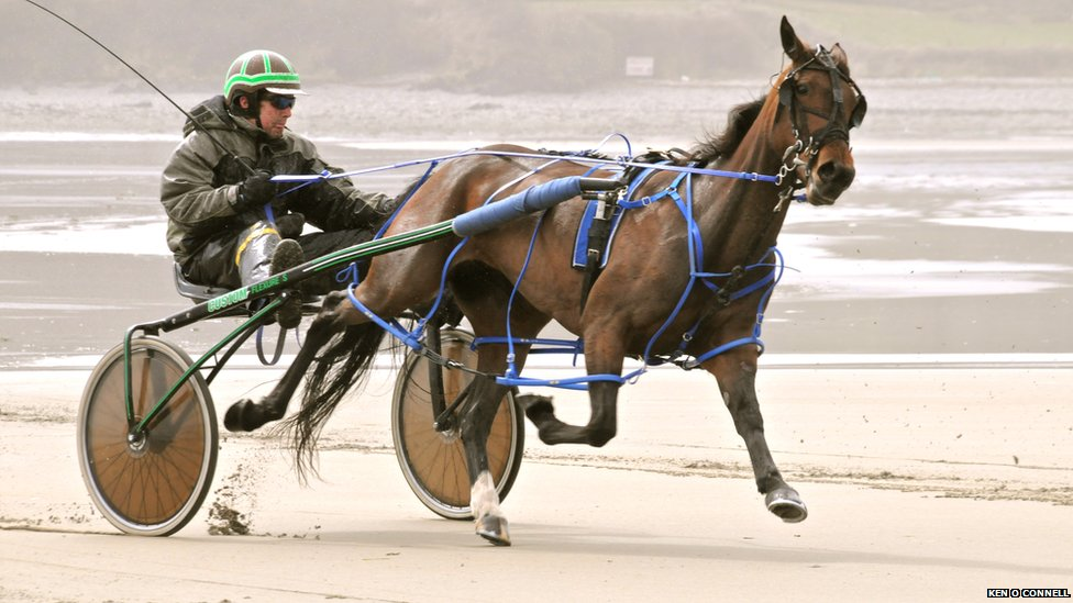 Racing on West Cork beach