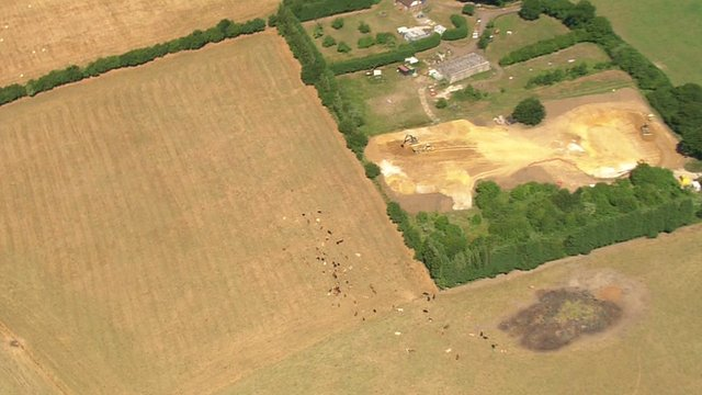 Aerial footage of south-east England