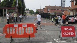 Road closures at Tipton mosque