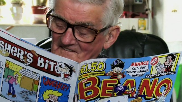 Beano fan Jim Andison