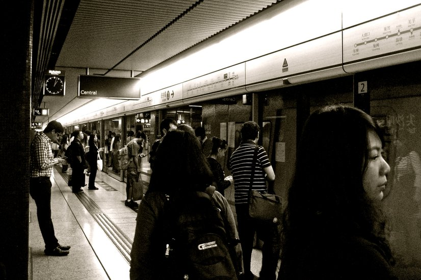 Underground station in Hong Kong