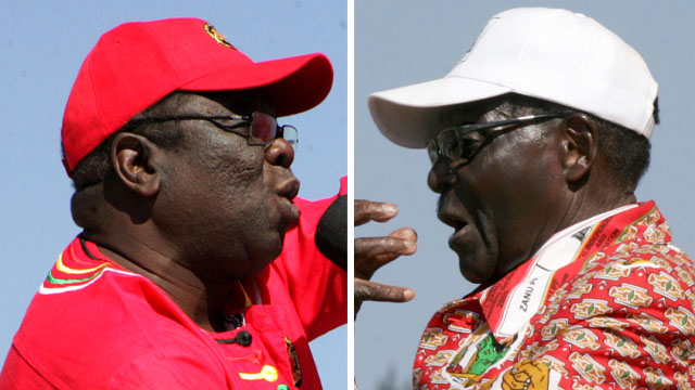 Morgan Tsvangirai and Robert Mugabe