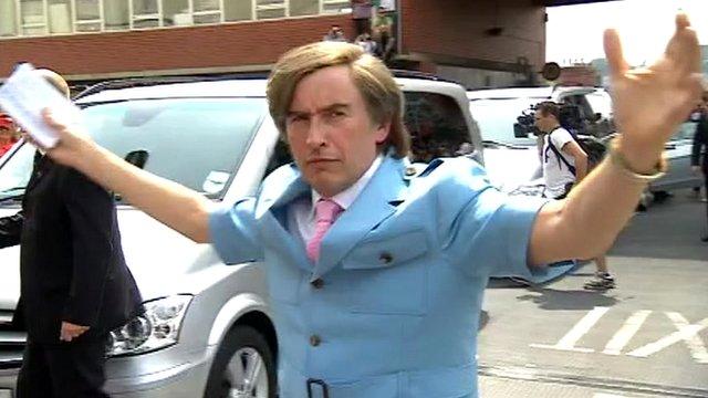 Alan Partridge arrives in Norwich