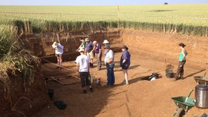 Archaeological dig in Sedgeford