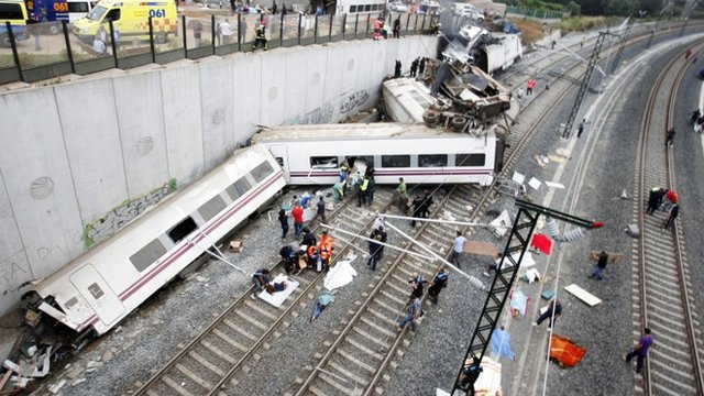 Train crash in Spain