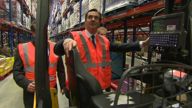 George Osborne and a forklift truck