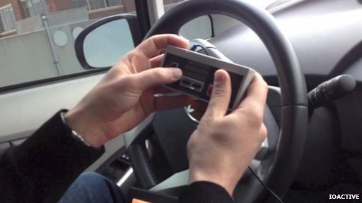 steering a car with a games console