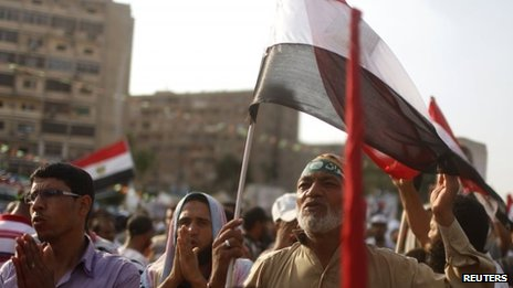 Muslim Brotherhood supporters in Cairo (24/07/13)