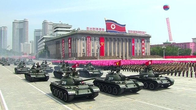 Parade in North Korean capital
