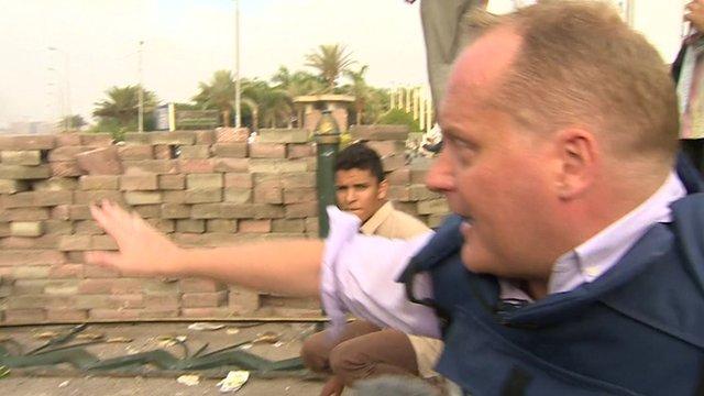 BBC reporter Quentin Somerville