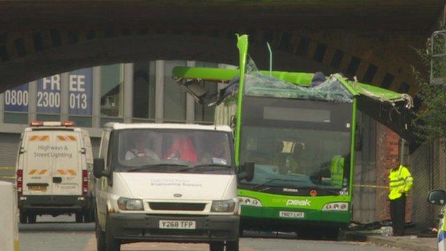 Bus involved in crash