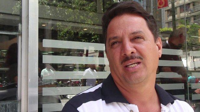 A Venezuelan man in Caracas