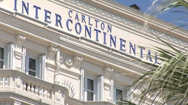 The Carlton Hotel in the French Riviera resort of Cannes