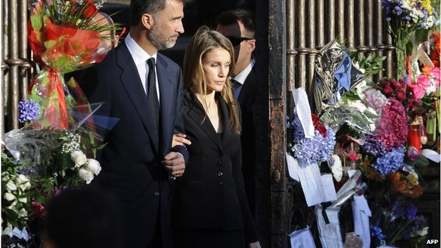 "Spain""s Crown Prince Felipe and Spain""s Princess Letizia"