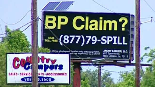 BP claim billboard