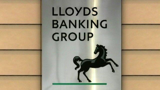 BBC graphic showing Lloyds logo