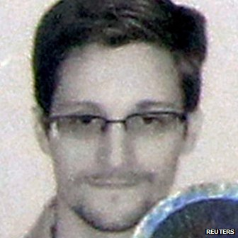 Fugitive former US spy agency contractor Edward Snowden's photograph on his new refugee document