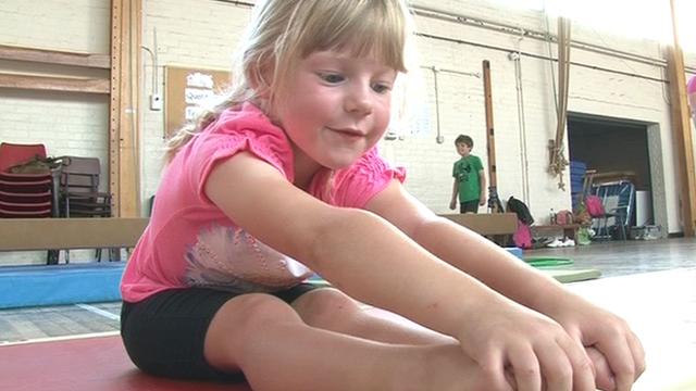 Young gymnast at Bedwas Gymnastics Club