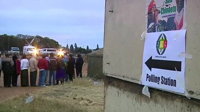 Polling station in Zimbabwe