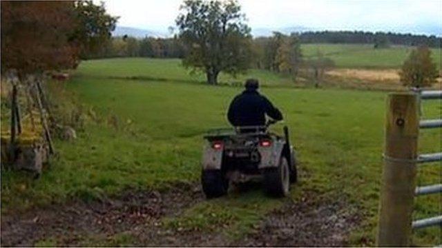 Farmer on quad bike (generic)