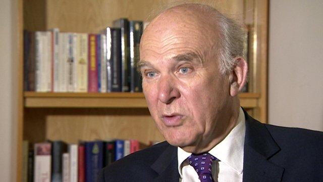 Business Secretary Vince Cable