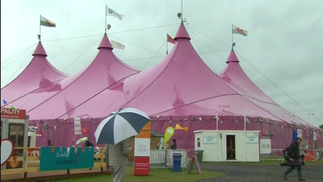 Pavilion at the National Eisteddfod in Denbigh