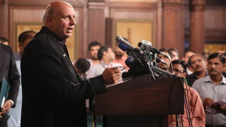 Mohammad Sarwar at swearing in ceremony