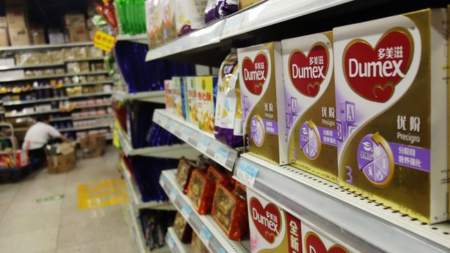 Products based on Fonterra raw materials on shelves in Beijing