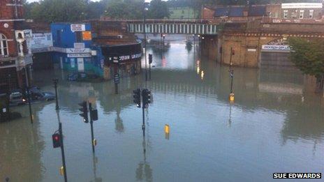 Herne Hill burst water main