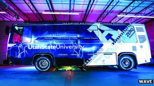 Utah State Aggie bus