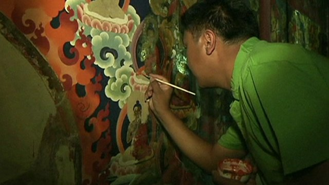 Centuries-old murals are being restored
