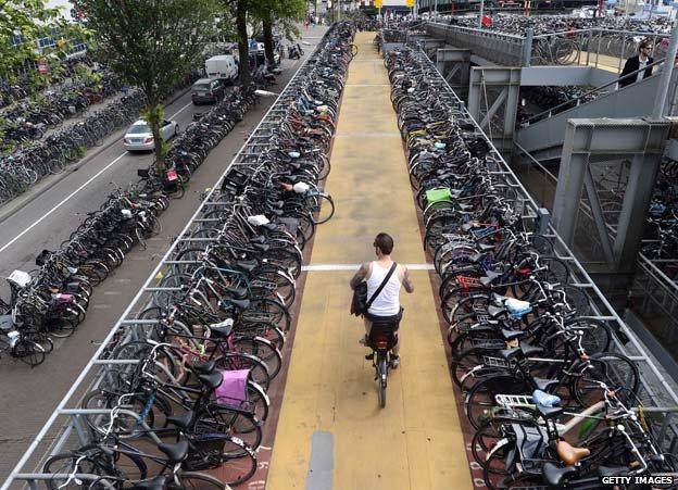 Bike park at Amsterdam central station